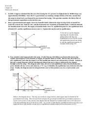 Eco 1101 Chapter 10 Homework Answers