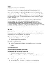 Assignment- Communicate the Value  (5).docx