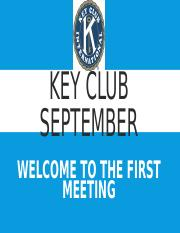 Key Club September.ppt