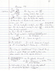 PHYS 1202W Discussion 7 answers