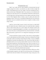 example of narrative essay about experience