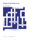 Chapter 24 Crossword Puzzle