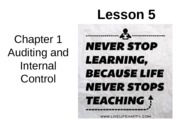 Chap01 Lesson5 Auditing and Internal Control