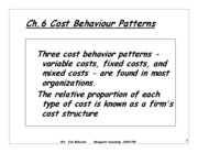 Ch 6 ADM2341A Cost Behaviour