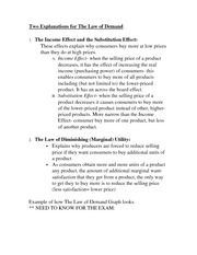 The Law of Demand Notes