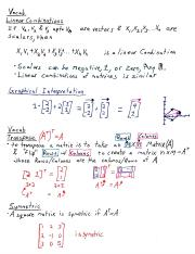 linear combinations, transpose, consistency, identity matrix, transpose properties, inverse,solving