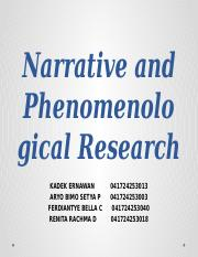 Narrative and Phenomenological Research.pptx