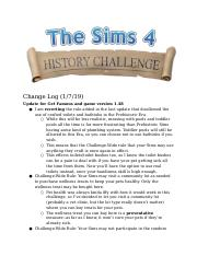 History Challenge - Change Log Update for Get Famous and game