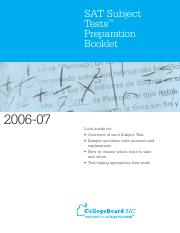 2006-07 SAT SUBJECT TESTS