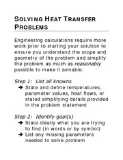 Solving Heat Transfer Problems