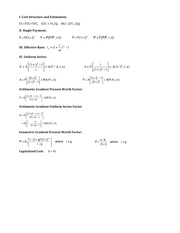 MIDTERM Formula Sheet FALL 2014