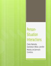 Person-Situation Interactions