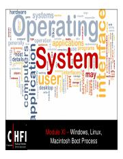 CHFI v4 Module 11 Windows Linux Macintosh Boot Process