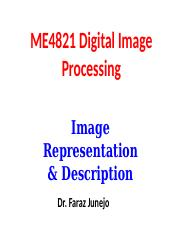 Lecture 12 Image representation and Description