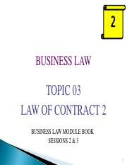 BUS115Jan2017_Topic 03 - Contract 2