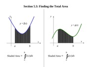 Notes on Finding Total Area