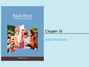 Chapter 16 & 17 (Adult Nutrition)