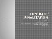 PM630 Unit 4 IP Contract Finalization