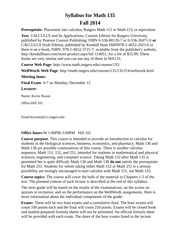 Syllabus for Math 135 Fall 2014-6