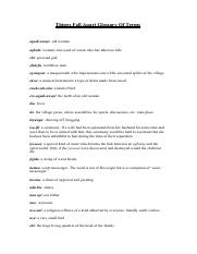 Things Fall Apart Glossary Of Terms