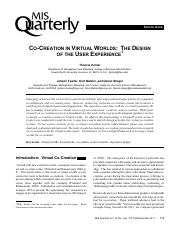Co-creation in virtual worlds - the design of the user experience.pdf