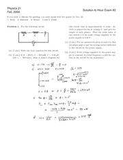 Fall 2009 Exam 2 Solutions