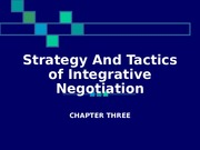 Chap 3 Integrative Negotiation.ppt