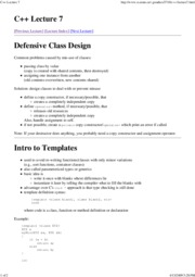 C++ Lecture 7