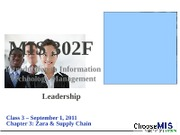 Class 04 - Zara and Supply Chain