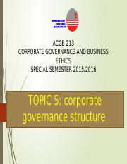 T5 Corporate ownership structure
