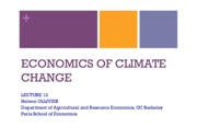 Lecture 12 - Economics of Climate Change