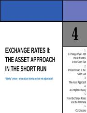 CHAPTER 4 EXCHANGE RATES II THE ASSET APPROACH IN THE SHORT RUN.ppt