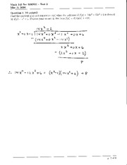 Math 145 Test 3 Solutions
