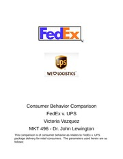 CB 496 Consumer Behavior Comparo UPS v. Fedex docx
