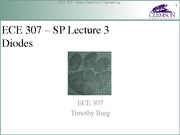ECE 307 SP Lecture 3 - Diodes