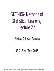 STAT406-15-lecture-22