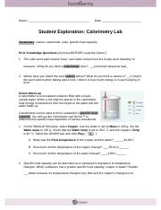 calorimeter lab answers 6 03 flvs View lab report - 0603 calorimetry lab report from chem 2 at florida virtual   0603 calorimetry: lab report procedure: part i: determining the specific heat   603calorimetrylab florida virtual high school chemistry 125 - fall 2015.