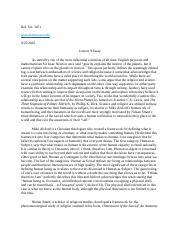 Rel St   Religion In Science Fiction  Missouri Mizzou   Pages  Lesson  Essay