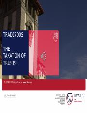 TRAD1700S Slides 4 - The taxation of trusts 2016
