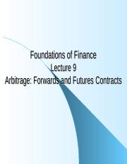 Lecture 9 - Forwards and Futures Contracts.ppt