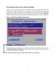 RC-Charter2 Form-Subform Data Entry and Editing