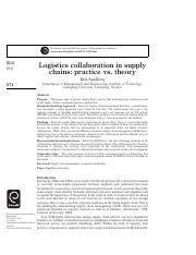 Reading Material01-Logistics collaboration in supply chainsú¦practice vs. theory