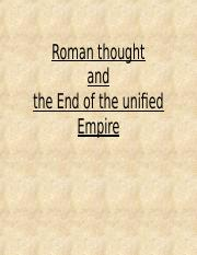 Roman+Thought+and+End+of+an+Empire