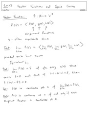 10.7  Vector Functions and Space Curves