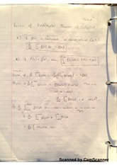Review Of Fundamental Theorem Of Calculus