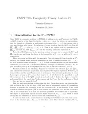CMPT 710 Generalization to the IP Notes