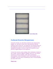 Cultural Events Responses (CER)