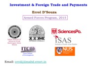 Investment and the Trade Balance 2015