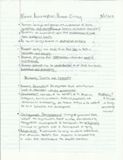 cafs 223 basic assumption human ecology notes