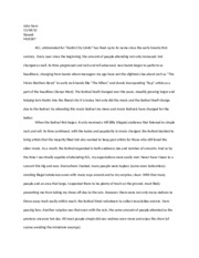 His of rock music essay, ACL